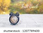 daylight saving time. wall... | Shutterstock . vector #1207789600