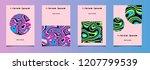 trendy vector fluid psychedelic ...   Shutterstock .eps vector #1207799539