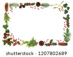 winter and christmas natural...   Shutterstock . vector #1207802689