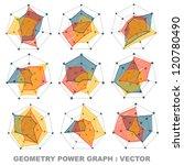 geometry power graph   vector | Shutterstock .eps vector #120780490