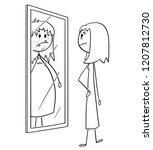 cartoon stick drawing... | Shutterstock .eps vector #1207812730