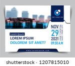 vector brochure  flyer ... | Shutterstock .eps vector #1207815010