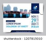vector brochure  flyer ... | Shutterstock .eps vector #1207815010