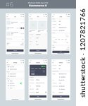 wireframe kit for mobile phone. ... | Shutterstock .eps vector #1207821766