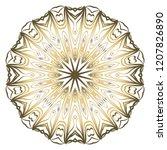 beautiful round flower mandala. ...   Shutterstock .eps vector #1207826890