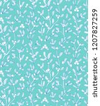 mistletoe  european mistletoe... | Shutterstock .eps vector #1207827259