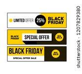 set of three horizontal black... | Shutterstock .eps vector #1207829380