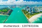 miami beach  south beach ... | Shutterstock . vector #1207831036