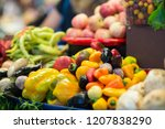 harvest on market   fresh... | Shutterstock . vector #1207838290