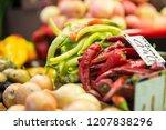 harvest on market   fresh... | Shutterstock . vector #1207838296