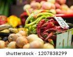 harvest on market   fresh... | Shutterstock . vector #1207838299
