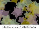 multicolored translucent stars... | Shutterstock . vector #1207843606
