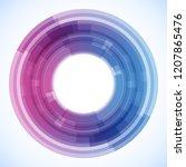 geometric frame from circles ...   Shutterstock .eps vector #1207865476