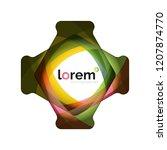 abstract geometric logo design  ...   Shutterstock .eps vector #1207874770