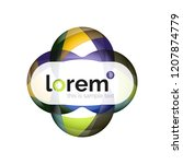 abstract geometric logo design  ...   Shutterstock .eps vector #1207874779
