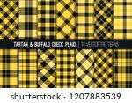 yellow and black tartan and... | Shutterstock .eps vector #1207883539