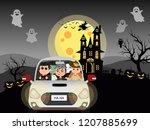 halloween costume kids and... | Shutterstock .eps vector #1207885699