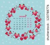 january calendar 2013 | Shutterstock .eps vector #120788776