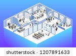 isometric flat 3d abstract... | Shutterstock .eps vector #1207891633