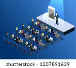 presentation of a new phone or... | Shutterstock .eps vector #1207891639