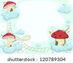 frame illustration of mushroom... | Shutterstock .eps vector #120789304