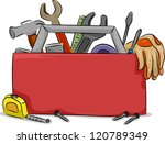blank board illustration of red ... | Shutterstock .eps vector #120789349