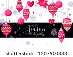 christmas holiday card in...   Shutterstock .eps vector #1207900333