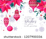 christmas holiday card in...   Shutterstock .eps vector #1207900336