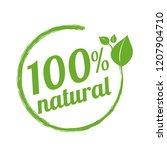 100  natural logo symbol | Shutterstock . vector #1207904710