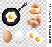 big eggs collection transparent ... | Shutterstock . vector #1207904716