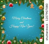 christmas poster with stars... | Shutterstock .eps vector #1207907080