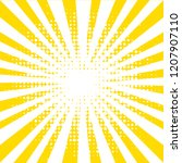 yellow background with rays ... | Shutterstock .eps vector #1207907110