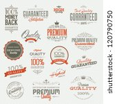 set of vintage premium quality... | Shutterstock .eps vector #120790750