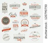 set of vintage premium quality... | Shutterstock .eps vector #120790750