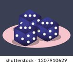 casino poker game bets dices... | Shutterstock .eps vector #1207910629