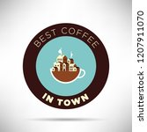 best coffee in town icon flat... | Shutterstock .eps vector #1207911070