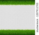 green grass borders transparent ... | Shutterstock . vector #1207911703