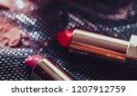 lipstick isolated on white... | Shutterstock . vector #1207912759