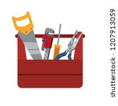 toolbox with tools icons | Shutterstock .eps vector #1207913059