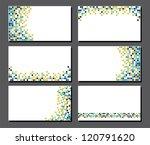 set of business cards. pixel art | Shutterstock .eps vector #120791620