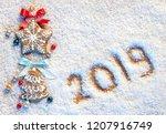 merry christmas  gingerbread... | Shutterstock . vector #1207916749