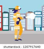 avatar fireman design   Shutterstock .eps vector #1207917640