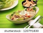 chicken caesar salad with... | Shutterstock . vector #120791830