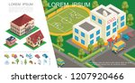 isometric city colorful concept | Shutterstock .eps vector #1207920466