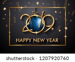2019 happy new year background... | Shutterstock . vector #1207920760