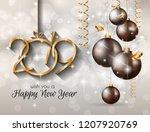 2019 happy new year background... | Shutterstock . vector #1207920769