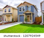 exterior of small new custom... | Shutterstock . vector #1207924549