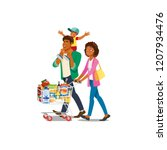 african american family cartoon ... | Shutterstock .eps vector #1207934476