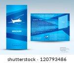 brochure plane flight tickets... | Shutterstock .eps vector #120793486