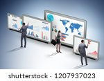 concept of business charts and... | Shutterstock . vector #1207937023
